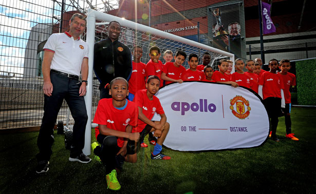 Pitch-Perfect---Manchester-United-legends-Denis-Irwin-and-Andrew-Cole-at-the-launch-of-the-new-Apollo-community-pitch-in-the-shadow-of-Old-Trafford