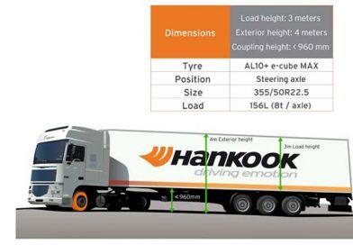 Hankook unveils series 50 steering axle tyre
