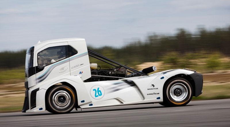 Volvo truck breaks two world speed records on Goodyear tyres