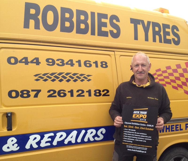 Robbie Neale, Robbie's Tyres, Mullingar